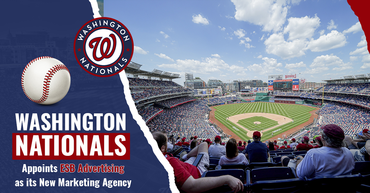 Washington Nationals Appoints ESB Advertising as its New Marketing Agency